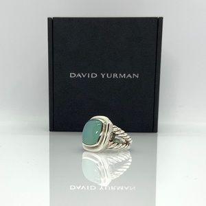 David Yurman Large Albion Ring w/Chalcedony sz 6